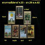 ดวงรายสัปดาห์ จ.23 – อา.29 ธ.ค.62 By พี่วิ เพจบูเช็คเทียนพยากรณ์
